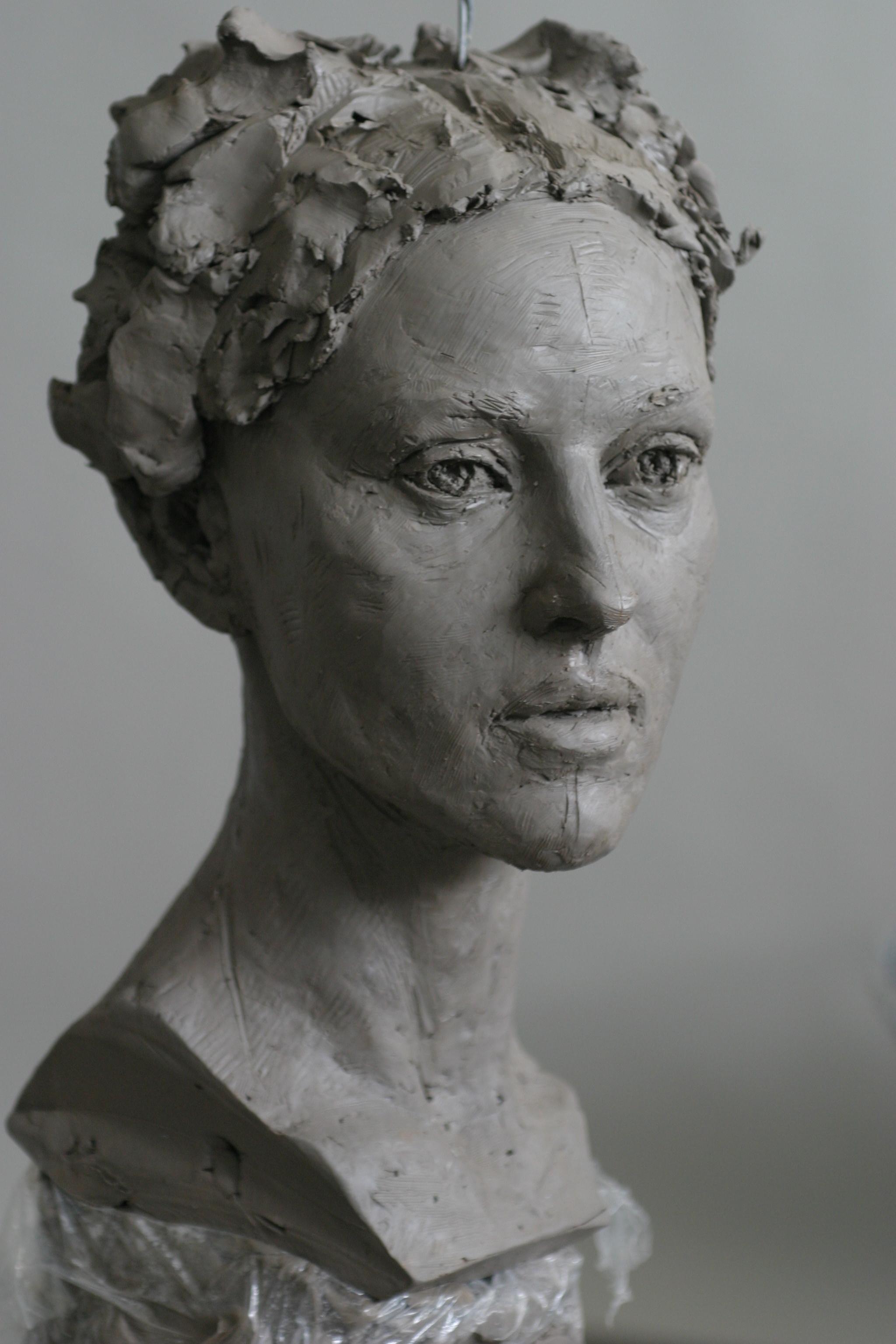 Monica Belluci - Sculpture en terre par Eric Saint Chaffray - Credit Musée Grévin