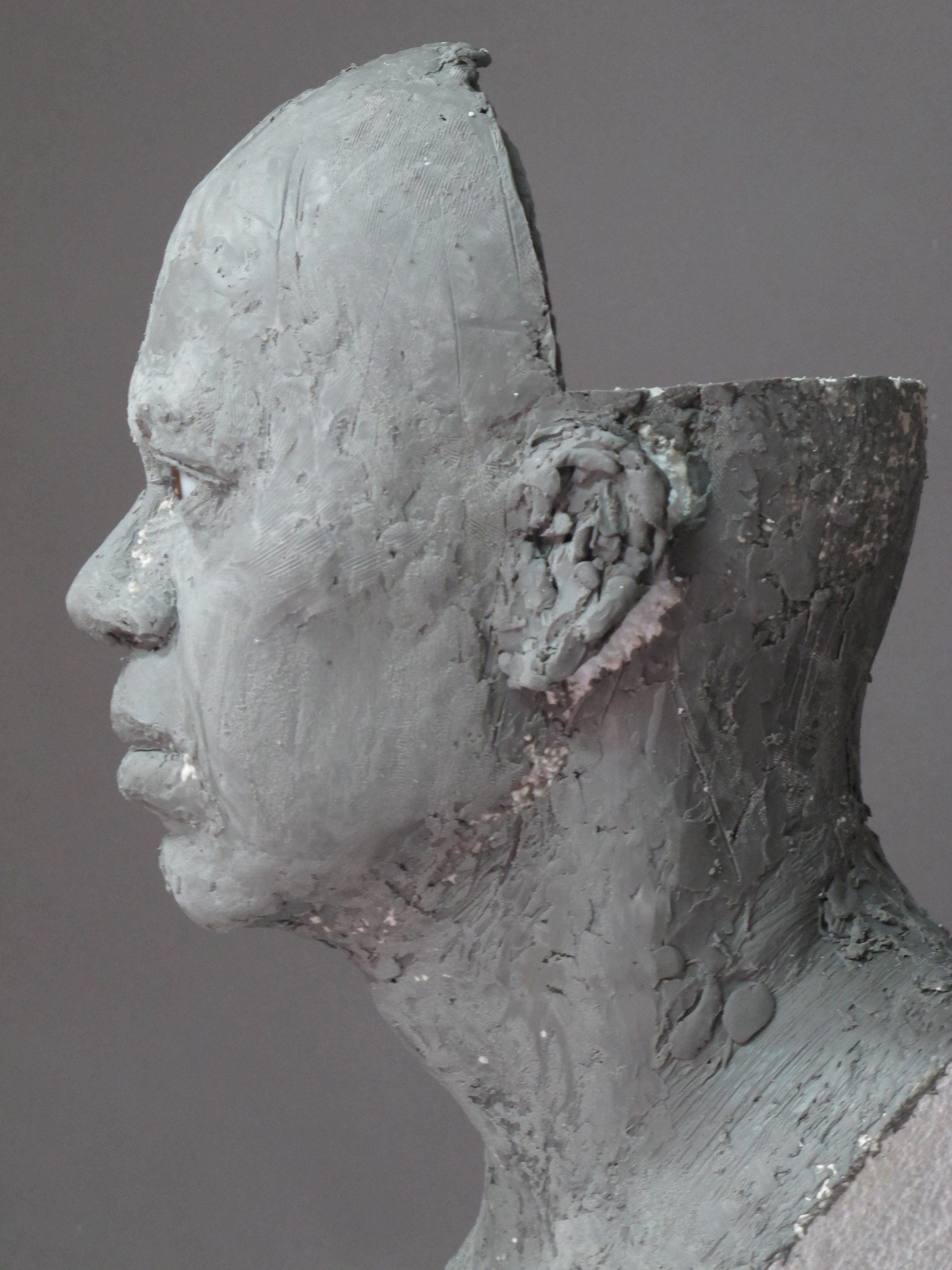 Tiger Woods - Sculpture en terre par Eric Saint Chaffray - Credit Musée Grévin