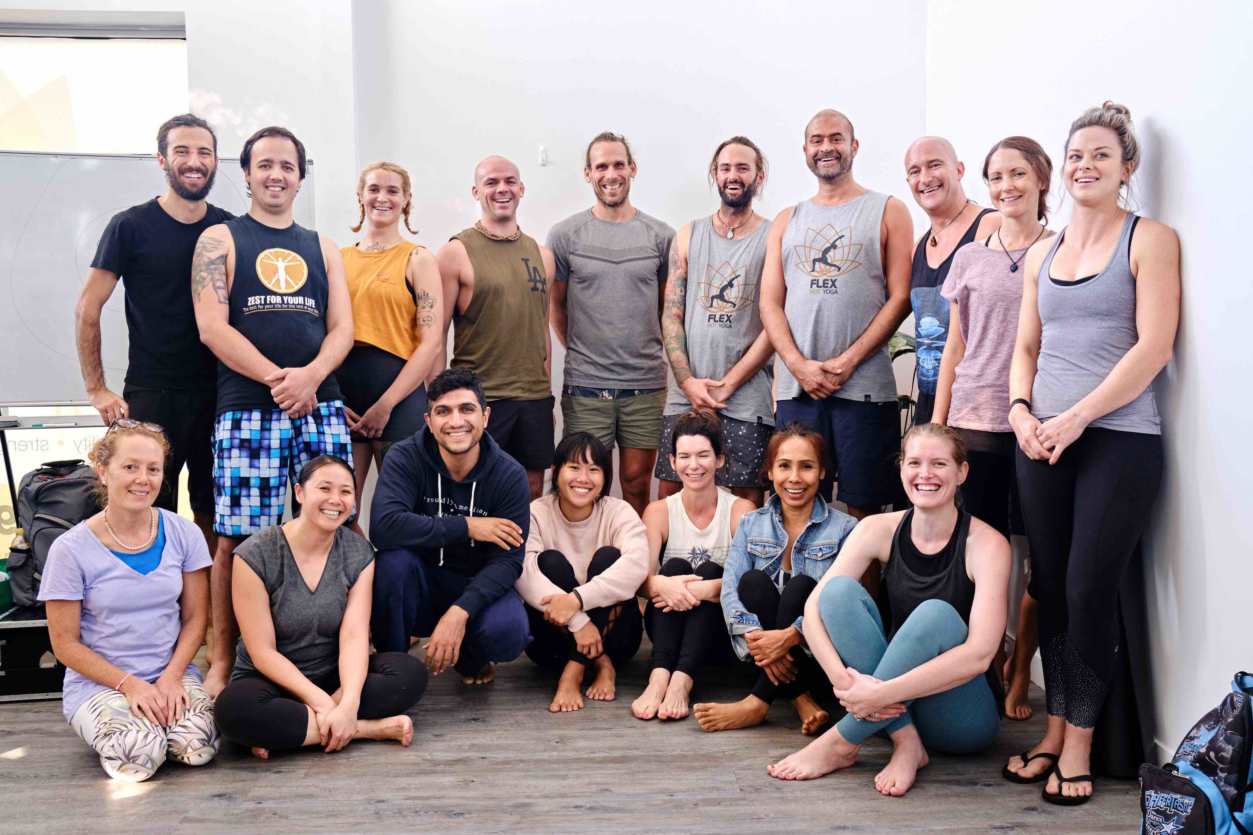 Flex Yoga Teacher Training Guarantee - Join us for an unforgettable journey of growth and discovery and we promise you'll be ready to teach by the end of this training!16 spots only. Apply now, before all spots are taken.Dates: 28 March – 26 July 2020 (4 months part-time, weekends only)March: 28th + 29th,April: 4th + 5th, 18th +19thMay: 2nd + 3rd, 16th + 17th, 30th + 31stJune: 13th + 14th, 27th + 28thJuly: 11th + 12th, 25th + 26thYour investment: Choose from a variety of payment options:Upfront payment: $3,995 Easy payment plan: $819 x 5 (1 deposit then remaining 4 payments on 1st of each month)Personal payment plan: Can be tailored to suit your budgetEarly Bird cut off dates:>> Save $400 if you book by 30 November 2019>> Save $300 if you book by 31 December 2019>> Save $200 if you book by 31 January 2019>> Save $100 if you book by 29 February 2020