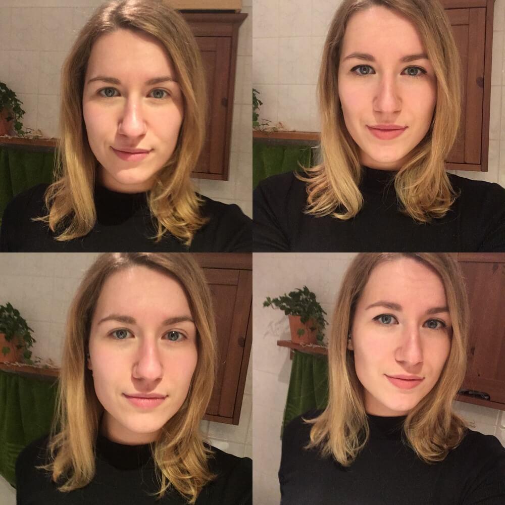 Vorher-Nachher Vergleich, wenn ich mich schminke. Ist Instagram der verschleierte Blick auf die Realität? / ©dontycryonion