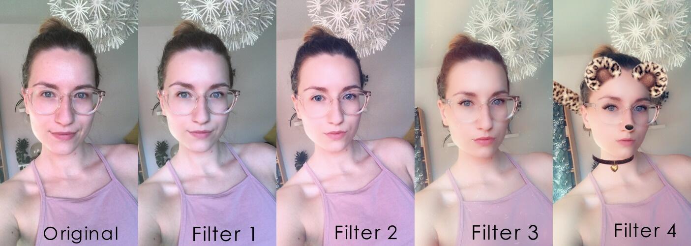 Vergleich verschiedener Snapchat-Filter - Ist unsere Zukunft nur gefiltert zu ertragen? /©donrycryonion
