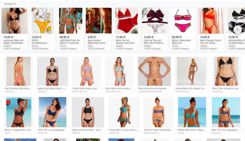 """Top Ergebnisse der Google-Bildersuche für """"Bikini"""" - Wer kann sich mit diesen Frauen identifizieren?* / ©dontcryonion"""