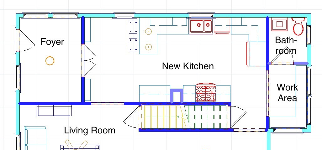 "Small Changes have a Big Impact - Small changes such as removing a drop ceiling and using taller upper cabinets that take full advantage of the room height result in a big impact in this kitchen remodel. Other features include improving access and square footage to the existing half bath and changing the entrance into the space making this kitchen truly the ""heart of the home""."