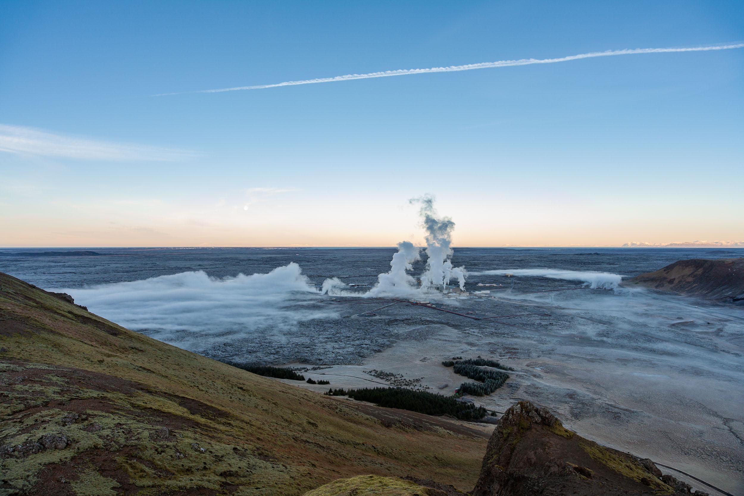 Blue Lagoon at sunrise, Iceland.