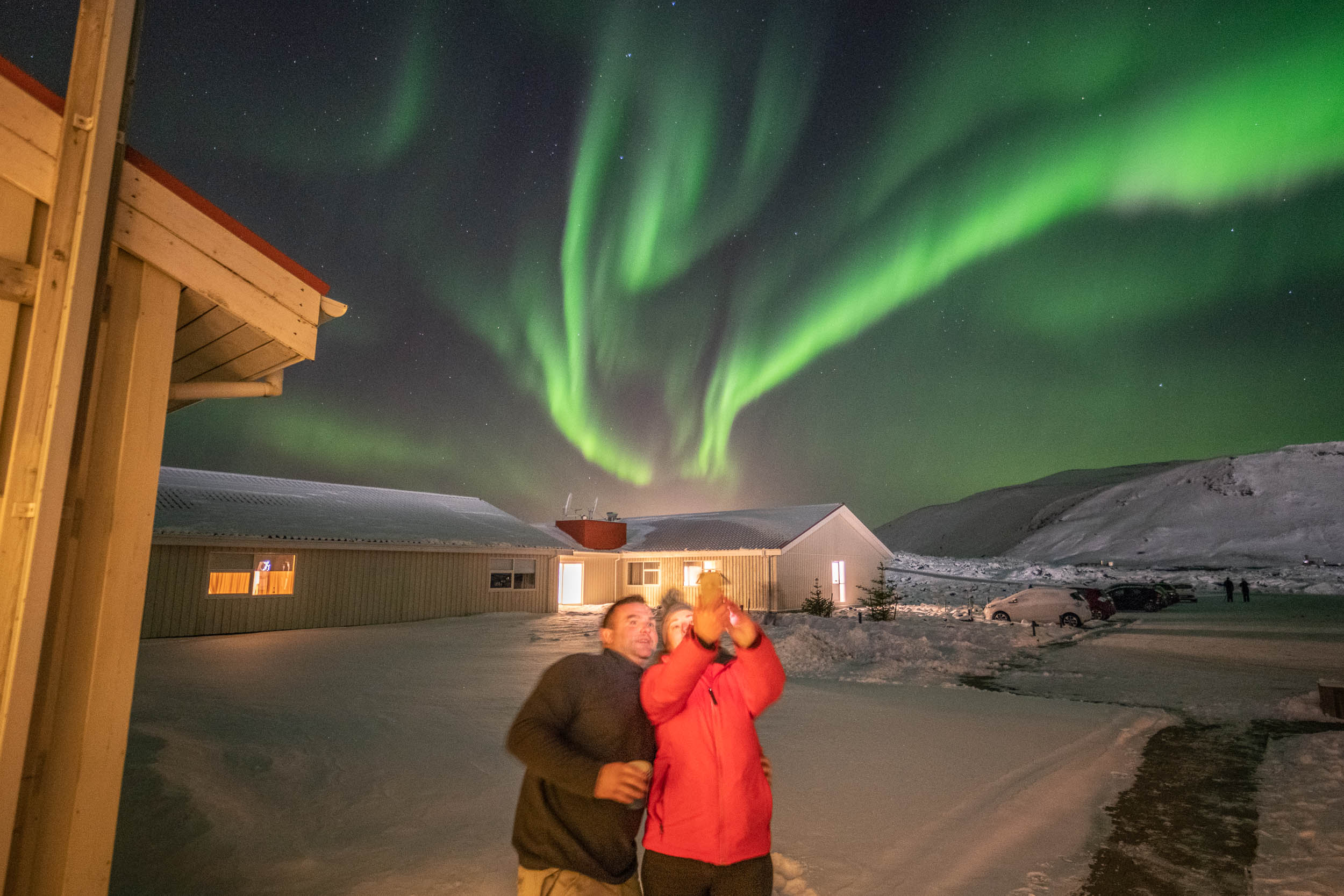 Aurora Borealis at Northern Light Inn, Iceland.