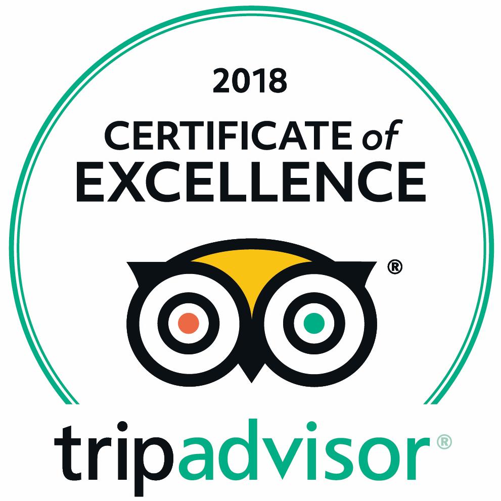 Northern Light Inn Trip Advisor Certificate of Excellence 2018