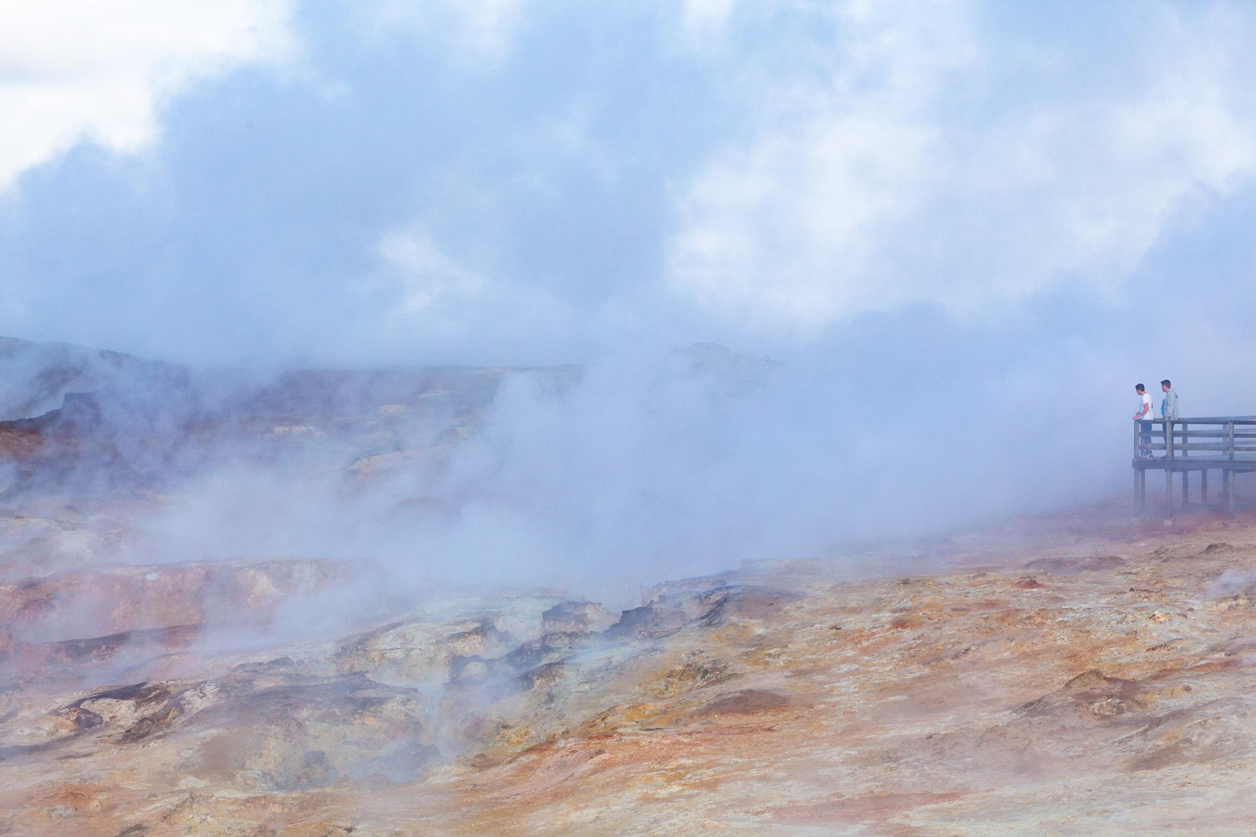 Steaming earth @ Gunnuhver