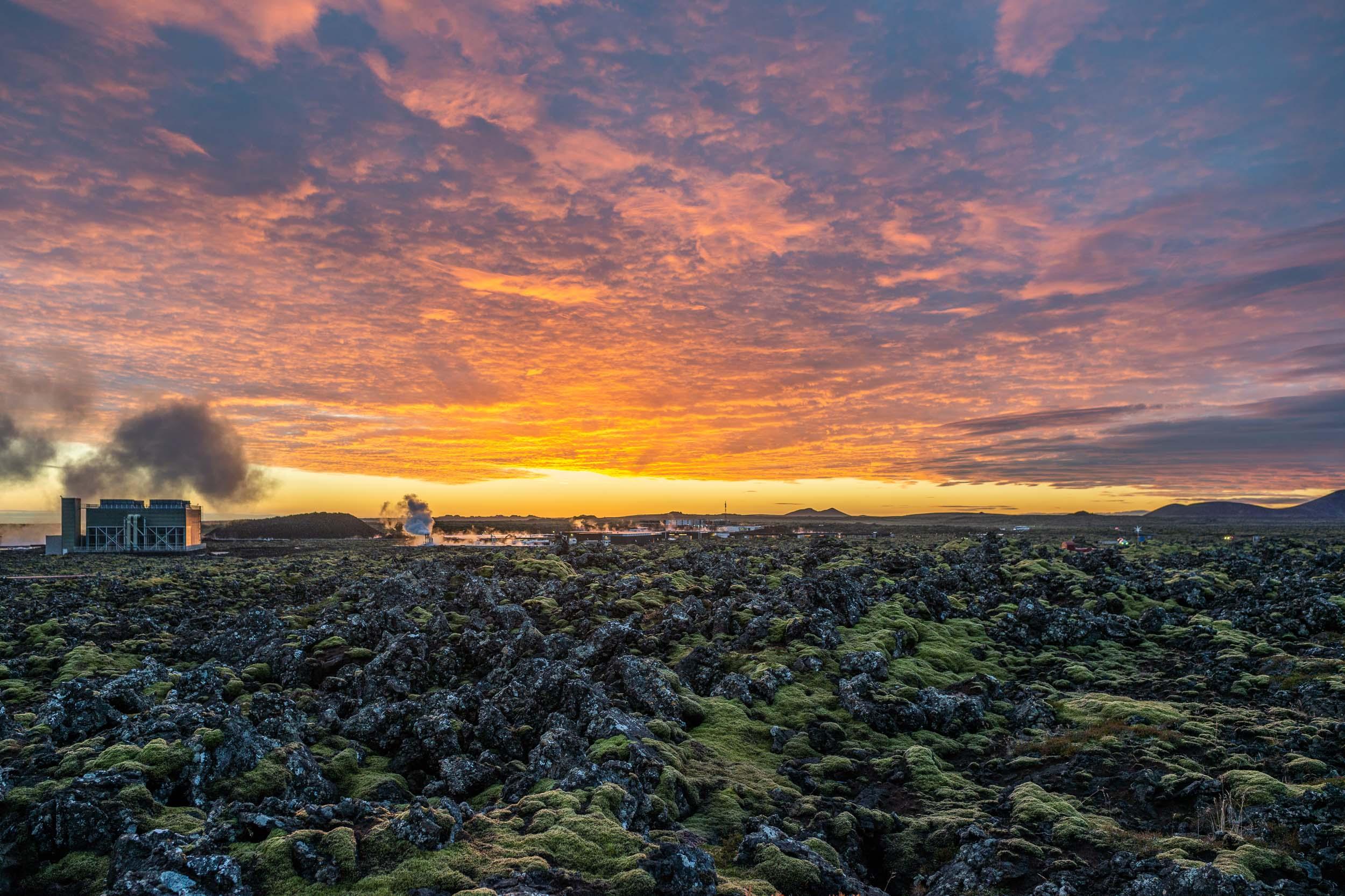 Sunset from Northern Light Inn