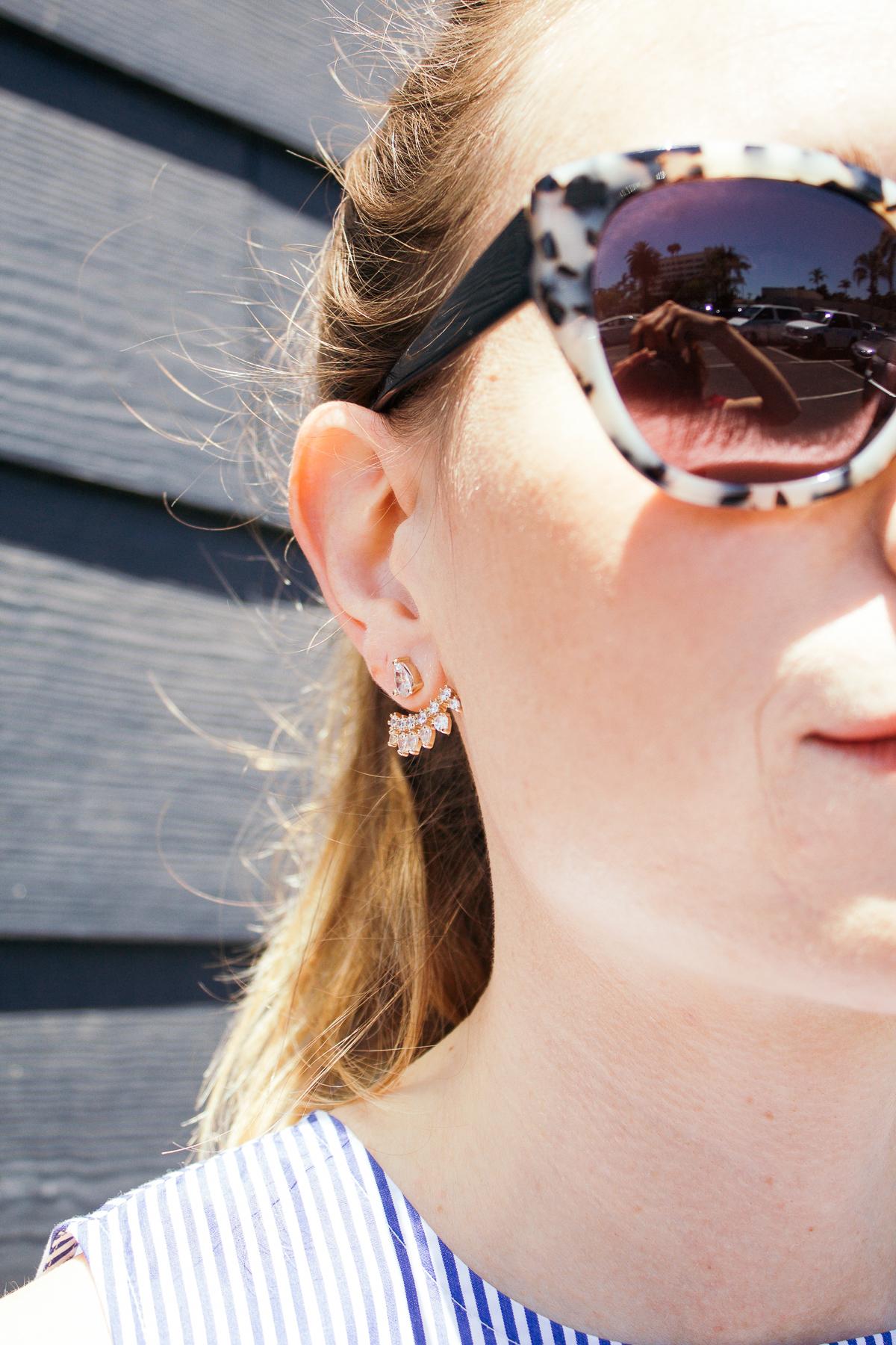 Stacked, stackedon.com, statement earrings, wanderlust+co earrings, ear cuff, earring cuff