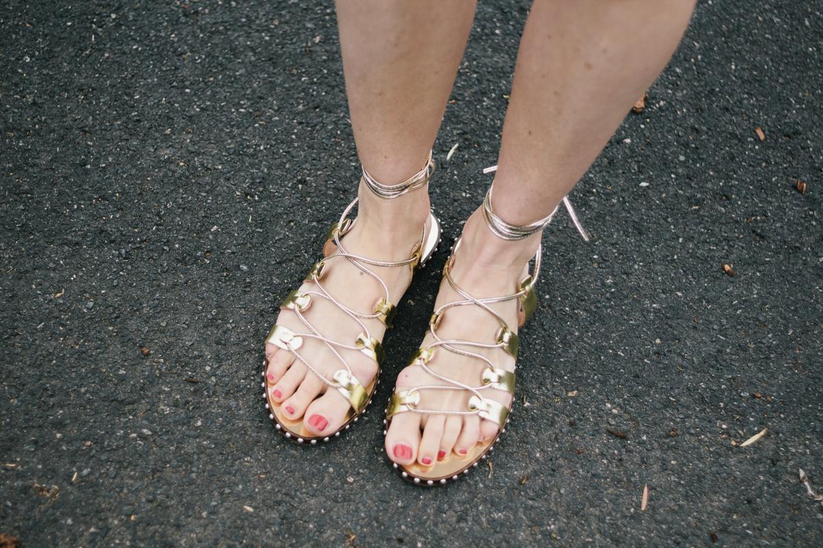 JCrew gladiator sandals