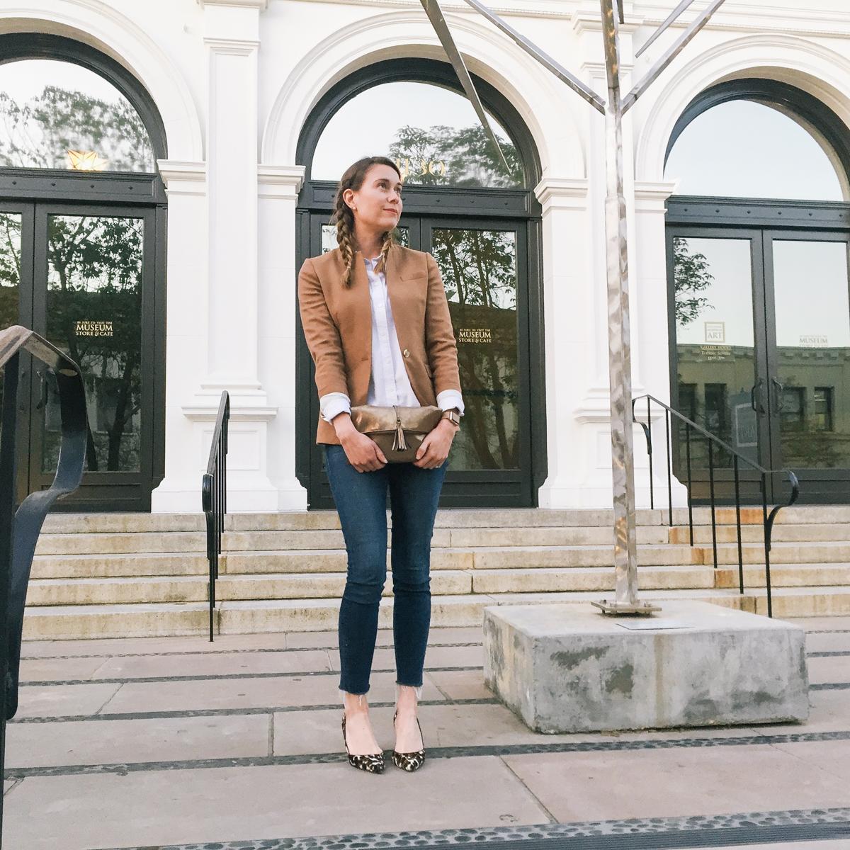 JCrew leopard print heels