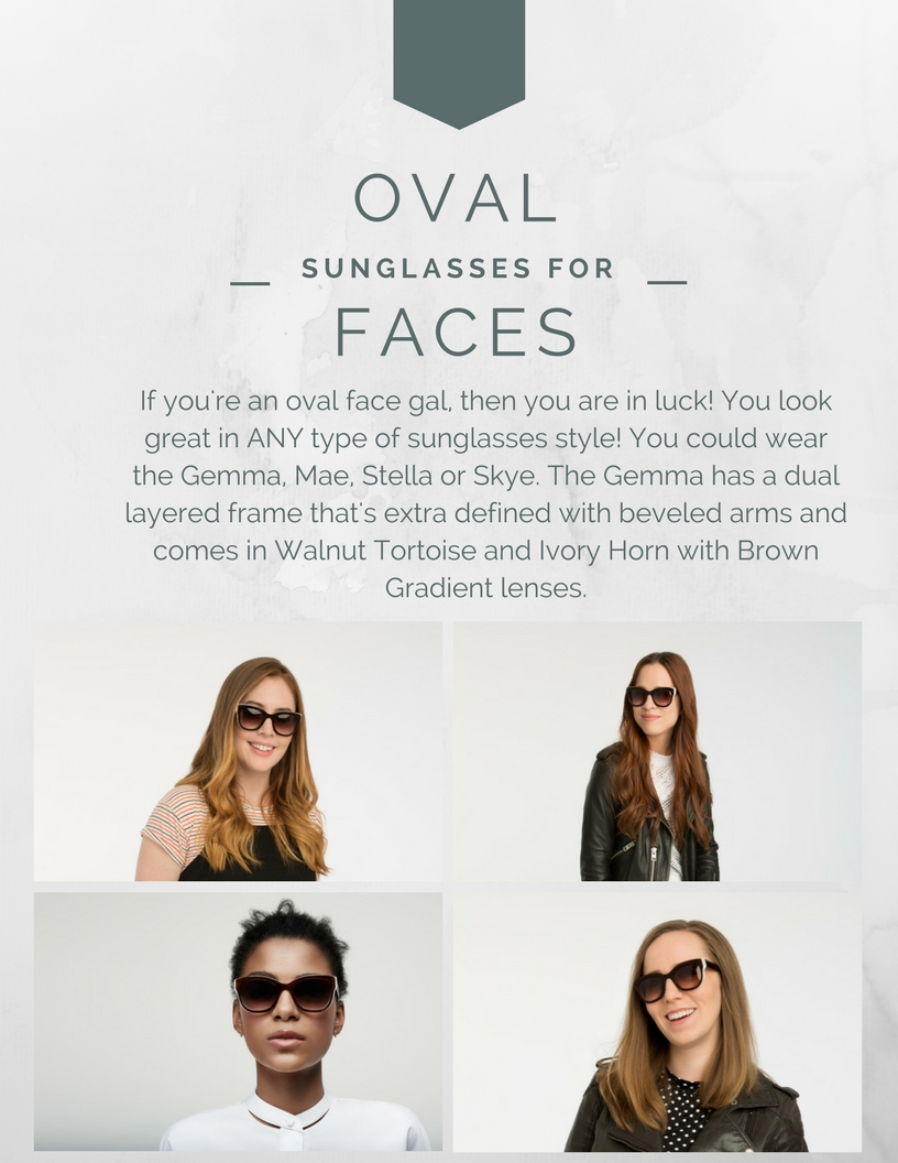 sunglasses for oval-shaped faces