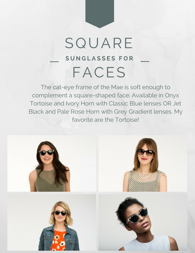 sunglasses for square-shaped faces