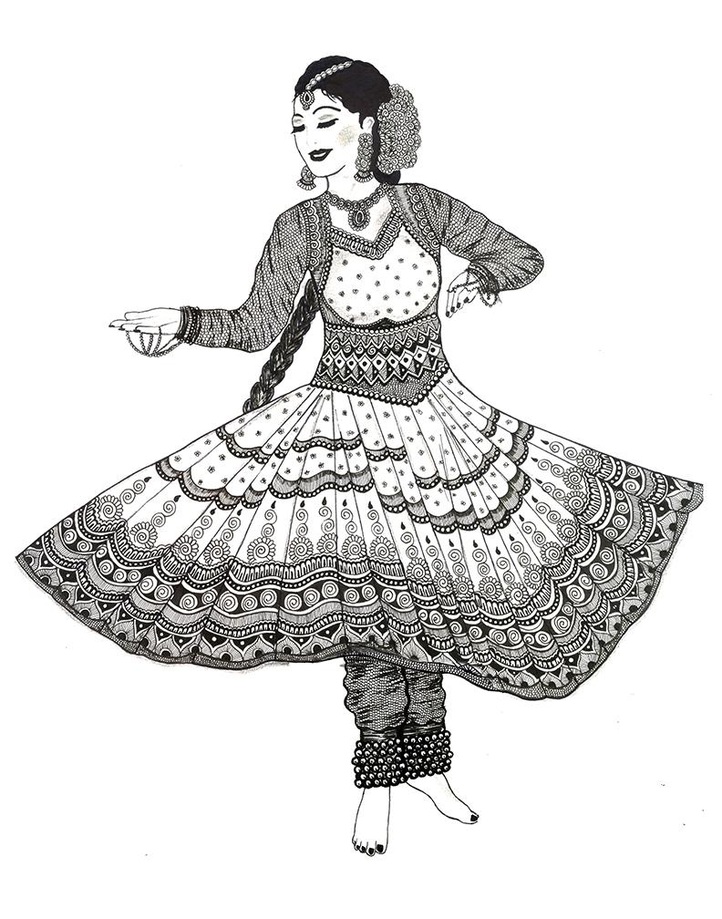 Art Inspired By Dance Patterns Rashmi S Art Shop