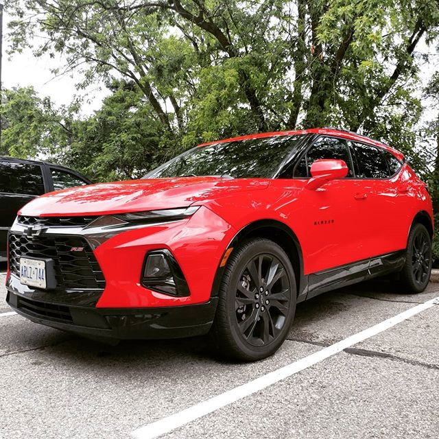 The brand new @chevroletcanada #blazer in it's signature red spotted at our office!