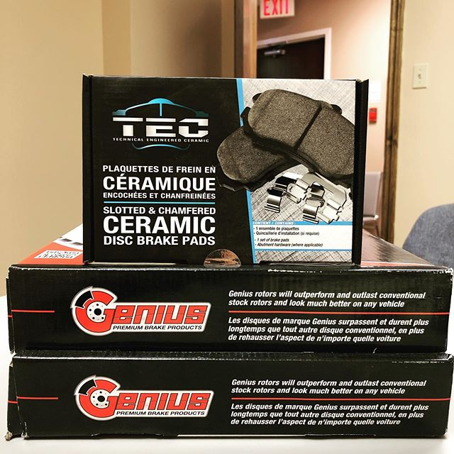 We offer premium brake products for your vehicle! Send us a message to get a quote! #rotors #brakepads #premium #autoparts #toronto #markham #summerdeals