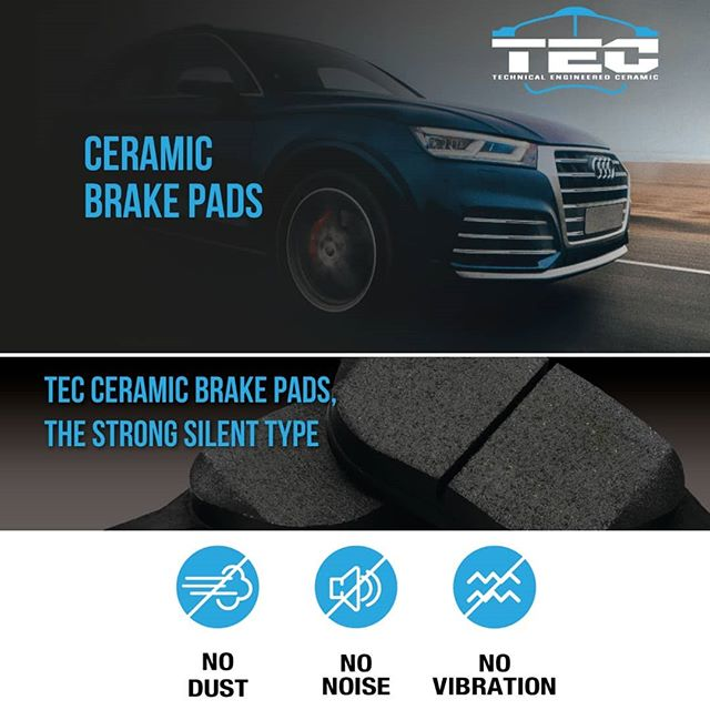 Technical Engineered Ceramic brake pads with hardware included #pautop