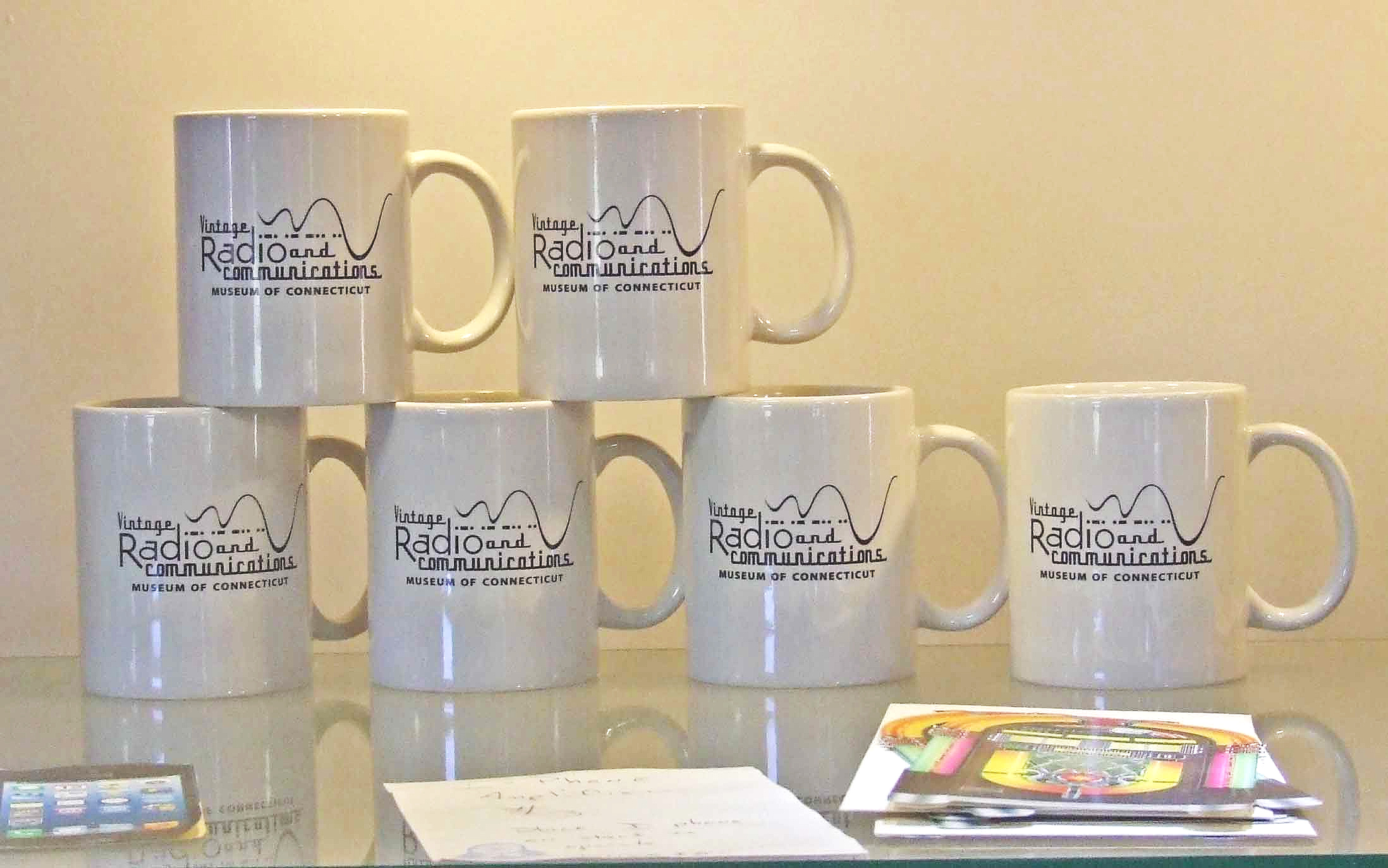 Mugs - Enjoy a mug of coffee or tea…Mugs have museum logo and are dishwasher safe!$5 each