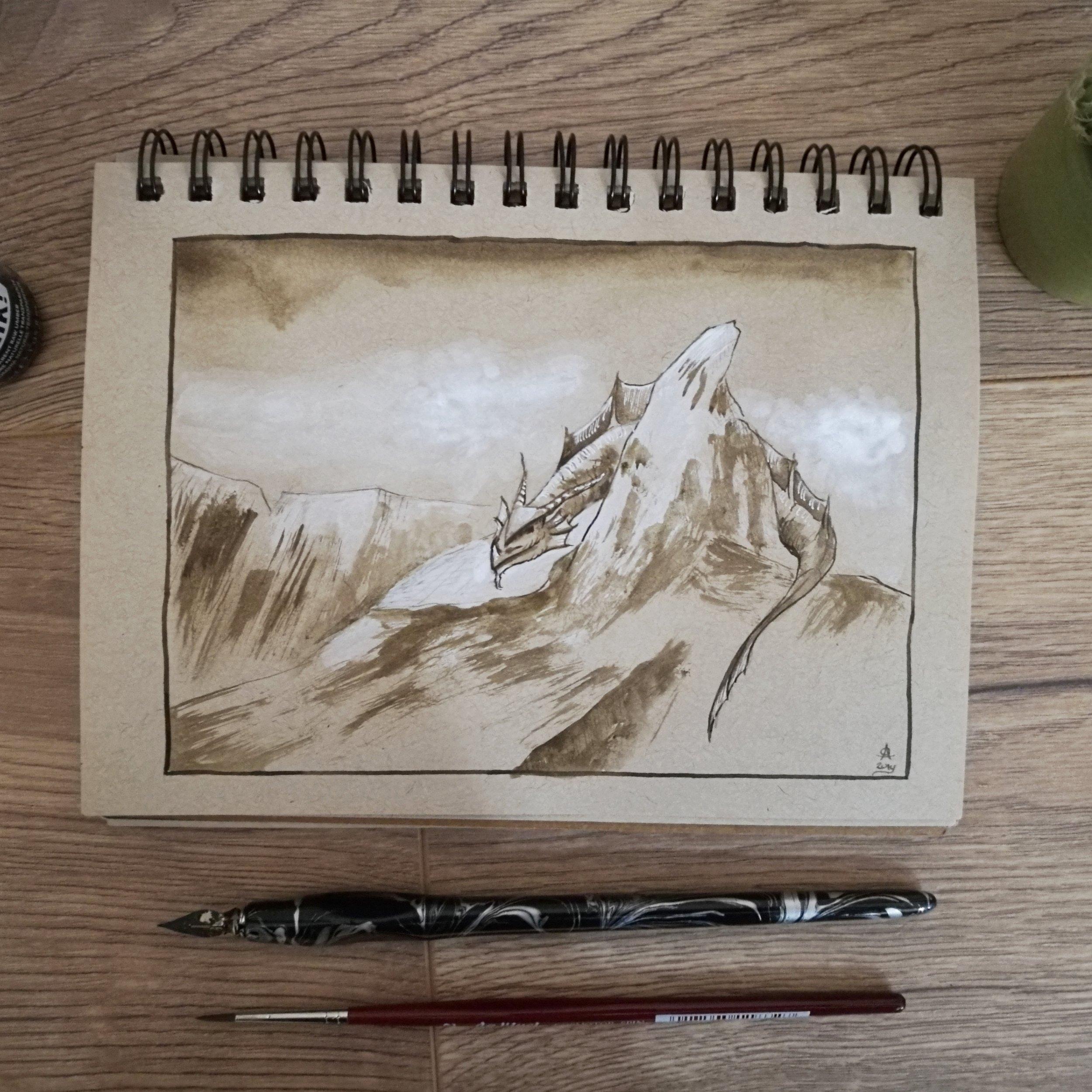 Smaugust 6- Mountain Dragon