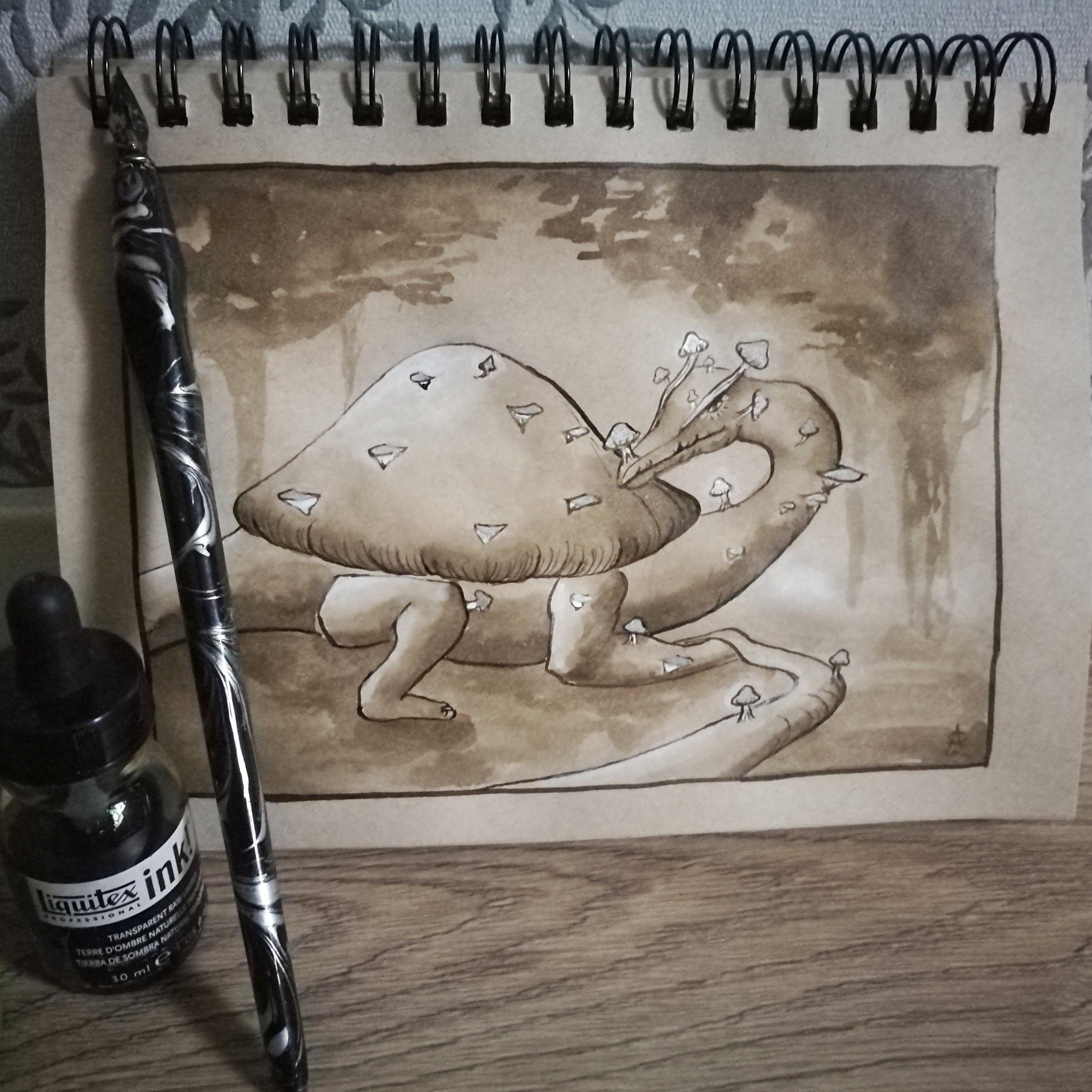 Smaugust 8 - Shroom Dragon