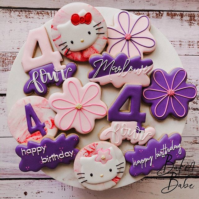 I got a little nostalgic making these cuties! I was OBSESSED with hello kitty when I was younger- are we even surprised? 🤣 . . .  #customcookies #cooking #foodstagram #royalicing #sweets #tasty #cookiedecorating #yum #instacookies #royalicingcookies #foodlover #decoratedcookies #cookieart #baker  #decorativecookies #instafood #cookies #sugarcookies #bakerbabe #handmade #cookiesofinstagram #handmadeinmichigan  #buzzfeedfood #huffposttaste #instabake #edibleart #hellokittycookies