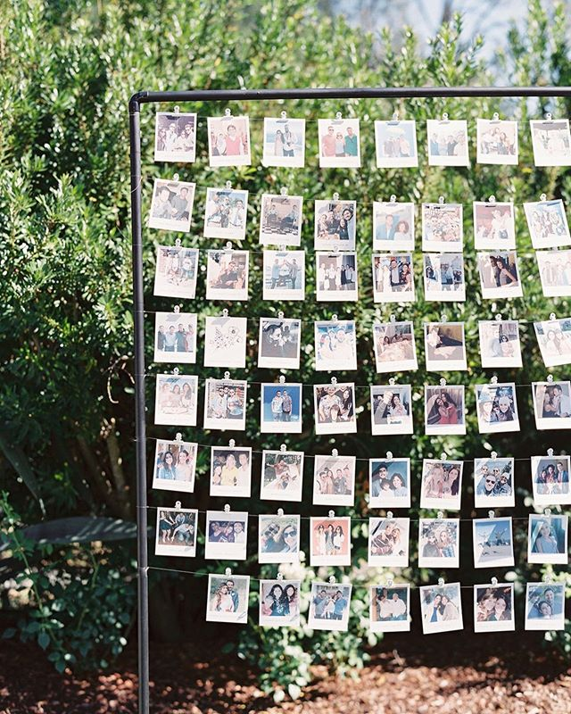 A personal touch by having photos of the guests as your escort display by @brownfoxcalligraphy | photo: @lynetteboyle | planning+design: @jacquelinehallgarth | venue: @calistogaranch #nicoletiesthescott