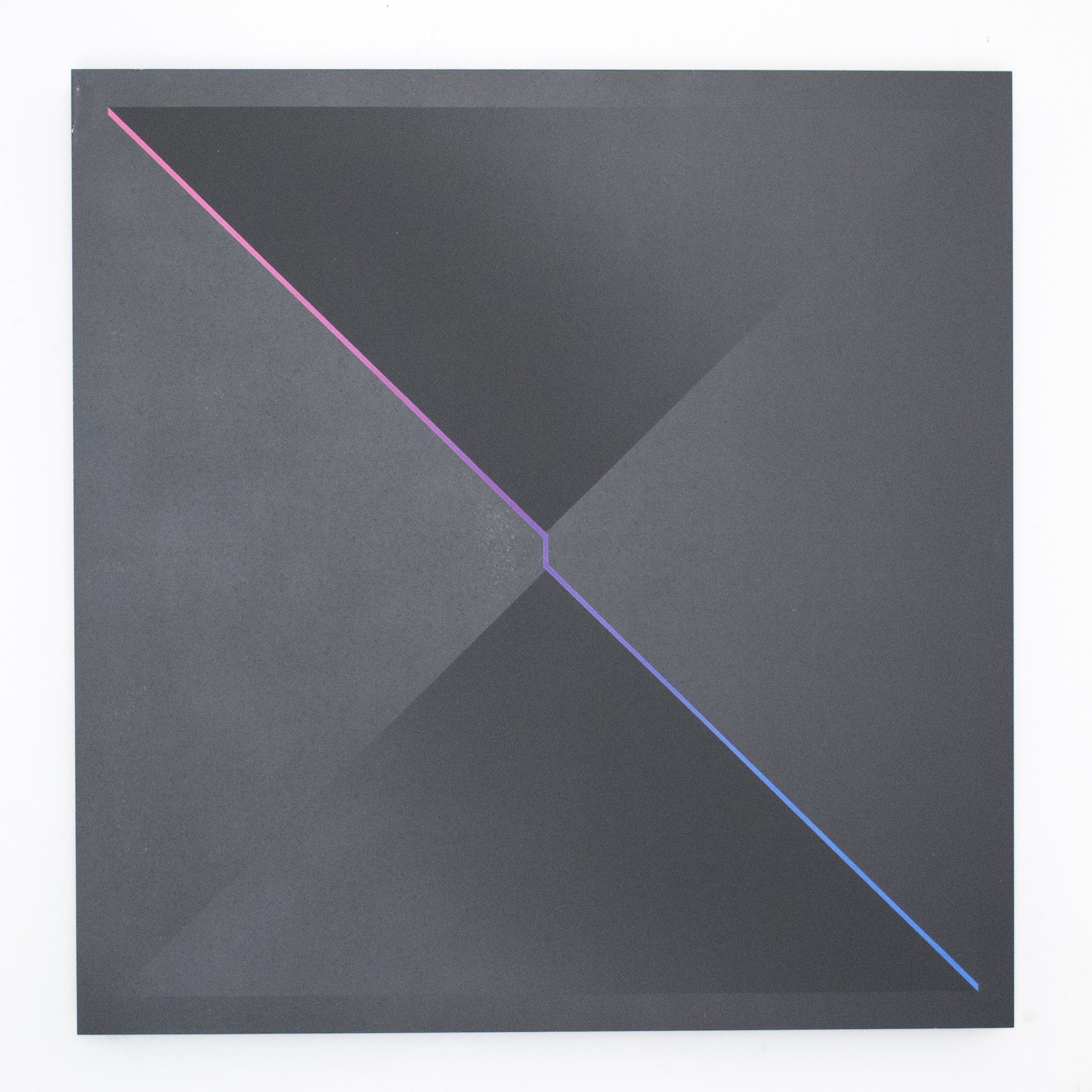(untitled - two triangles, matte/gloss)