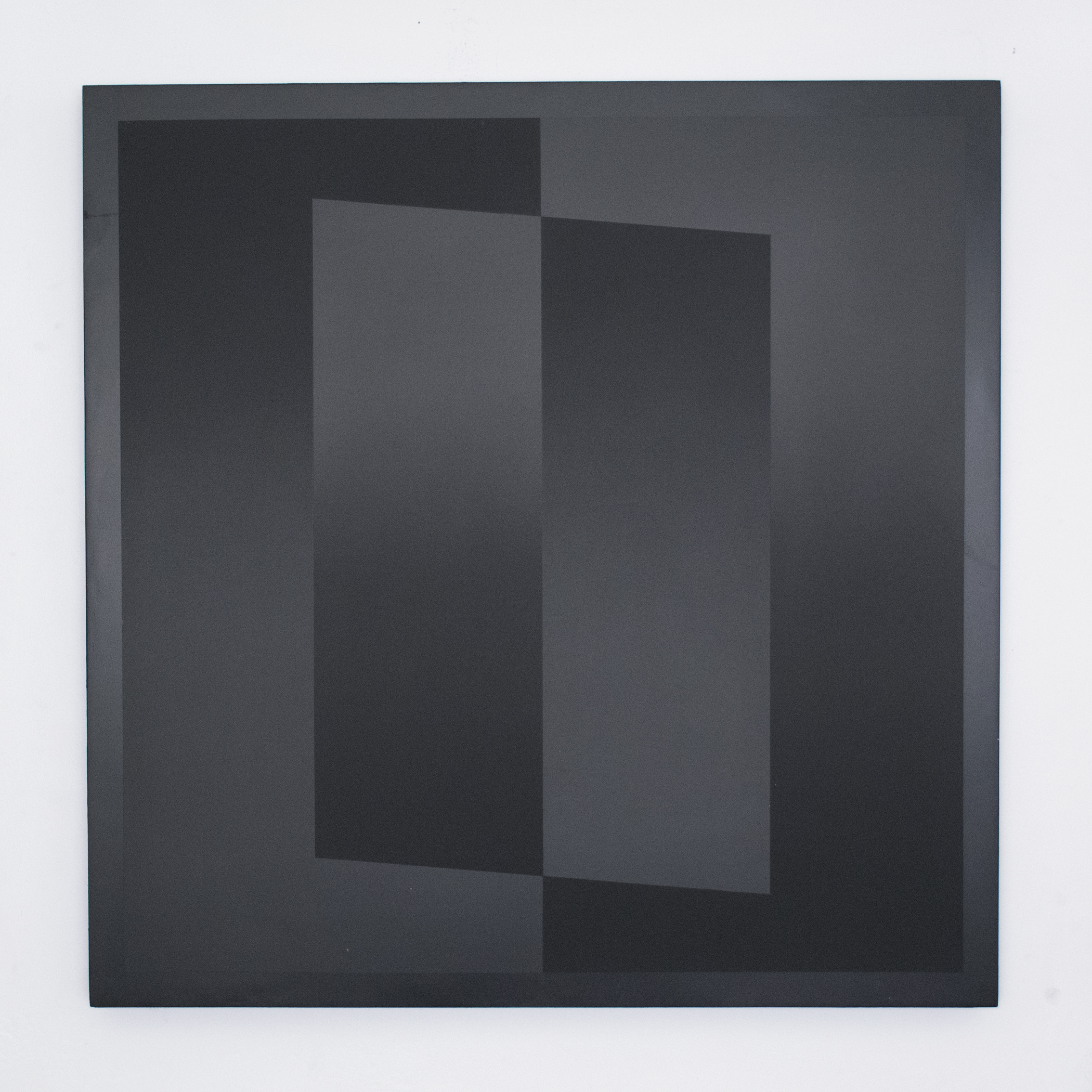untitled - two parallelograms in two rectangles, matte/gloss)