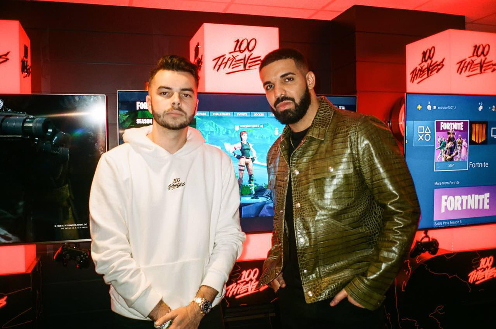 Drake has previously invested in esports when he partnered with 100 Thieves in October 2018. Photo: 100 Thieves