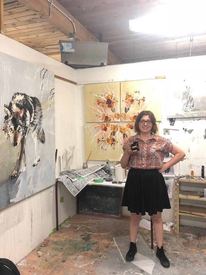 Artist's studio, Edmonton AB, 2018