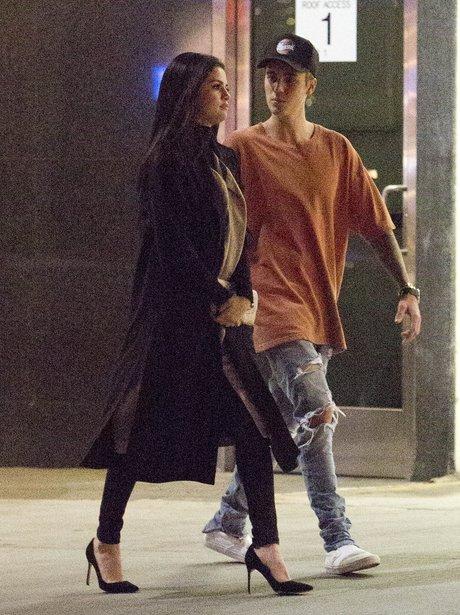 Justin Bieber and Selena Gomez in 2015 // Splash Photos