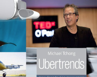 May 1: Ubertrends - Ubercool Michael Tchong author of Ubertrends will give us a thrilling presentation on what we can expect from smart devices to social media to AI and robotics. Claire Fleisler the Transportation Adviser for the City of Santa Cruz will talk to us about JUMP bikes trends and upcoming new transportation. Steve Mandel of Oceans360 will show the underwater world of manta rays using an Oculos Go. And yes, someone will win an Oculos Go and Mandel's content! We will announce 4 other companies in the week prior our event.