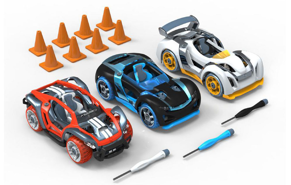 The Delux 3-Pack looks like three cars, but can be made into a lot more than that.