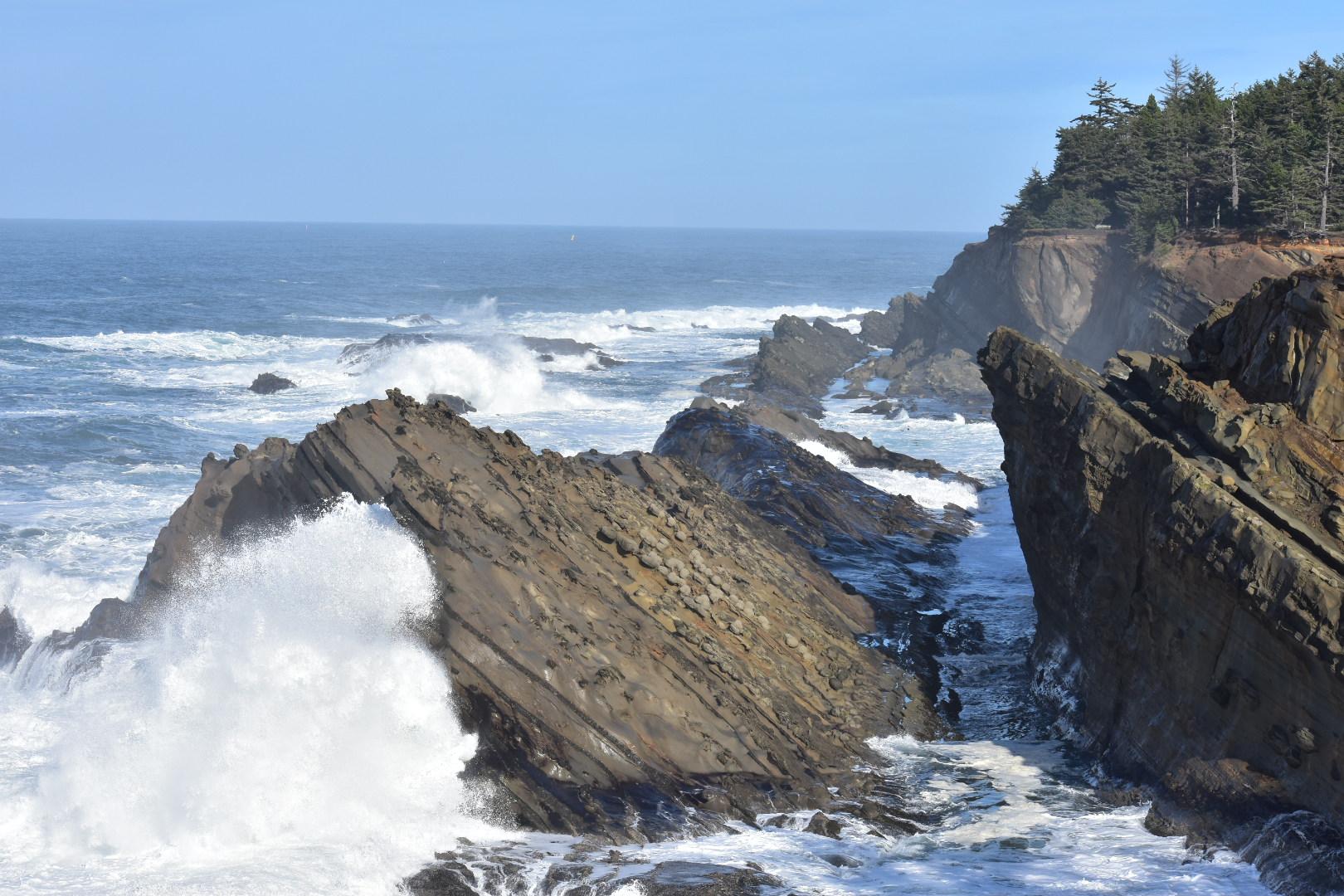 Waves at Shore Acres, Oregon Coast