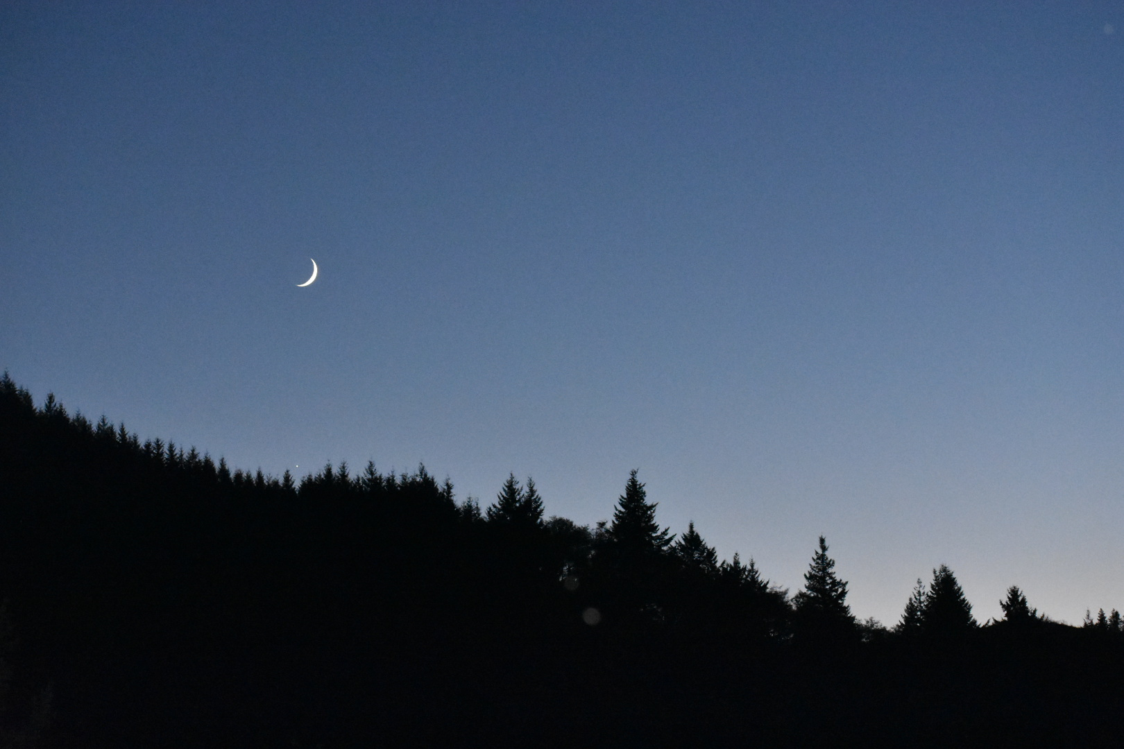 Moon over North Bend, OR