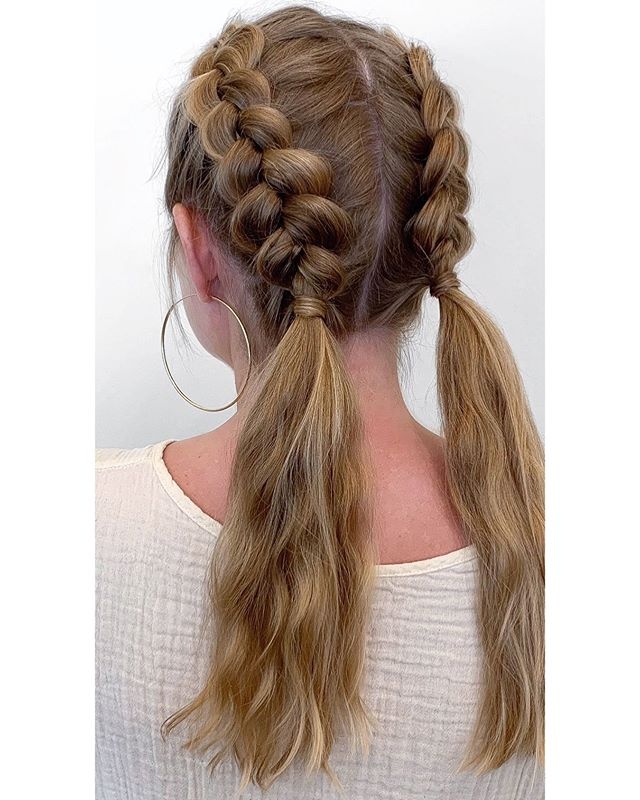 """Your hair is your best accessory."" •Braids by Cat @catjdoeshair . . . #houstonsalon #houstonhair #huesalon #braidedhairstyles #braided #hair #hairart #style #montrose #HUEston #lorealsalon #lp #shuuemura"