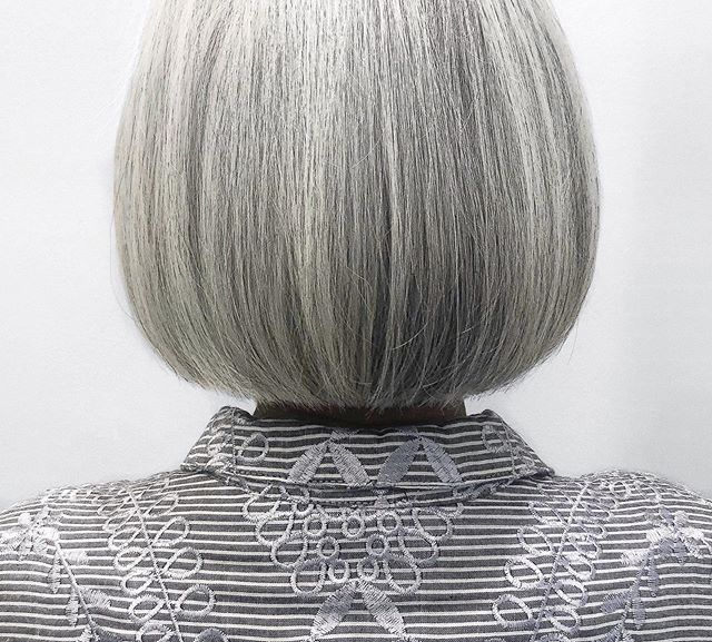 SATISFYING ✂️: @hairbyallegraelyse . . . #houstonsalon #houstonhairdresser #houstonhair #beautyinspo #bob #grayhair #silverhair #cleancut #bobhaircut #houstonbobs #hairinspo #hairoftheday #montrose #montrosesalon #haircut #westheimer #832 #281 #713 #htown #HUEston #huesalon #behindthechair #modernsalon #salonbiz
