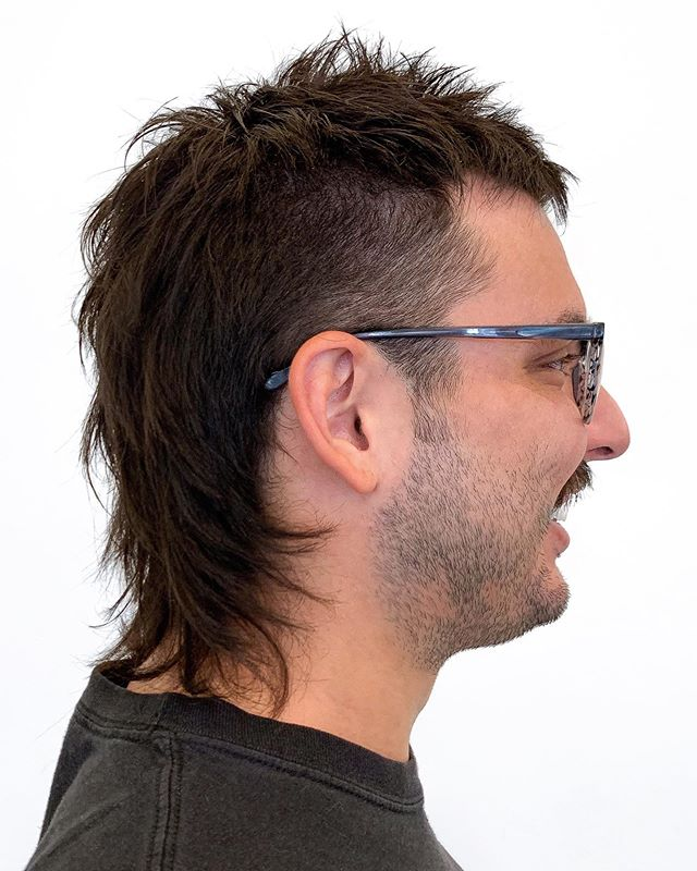 THAT'S RIGHT. by @alanhuesalon . . . #mullet #montrosesalon #montrose #houstonsalon #houstonhair #hair #businessinthefrontpartyintheback