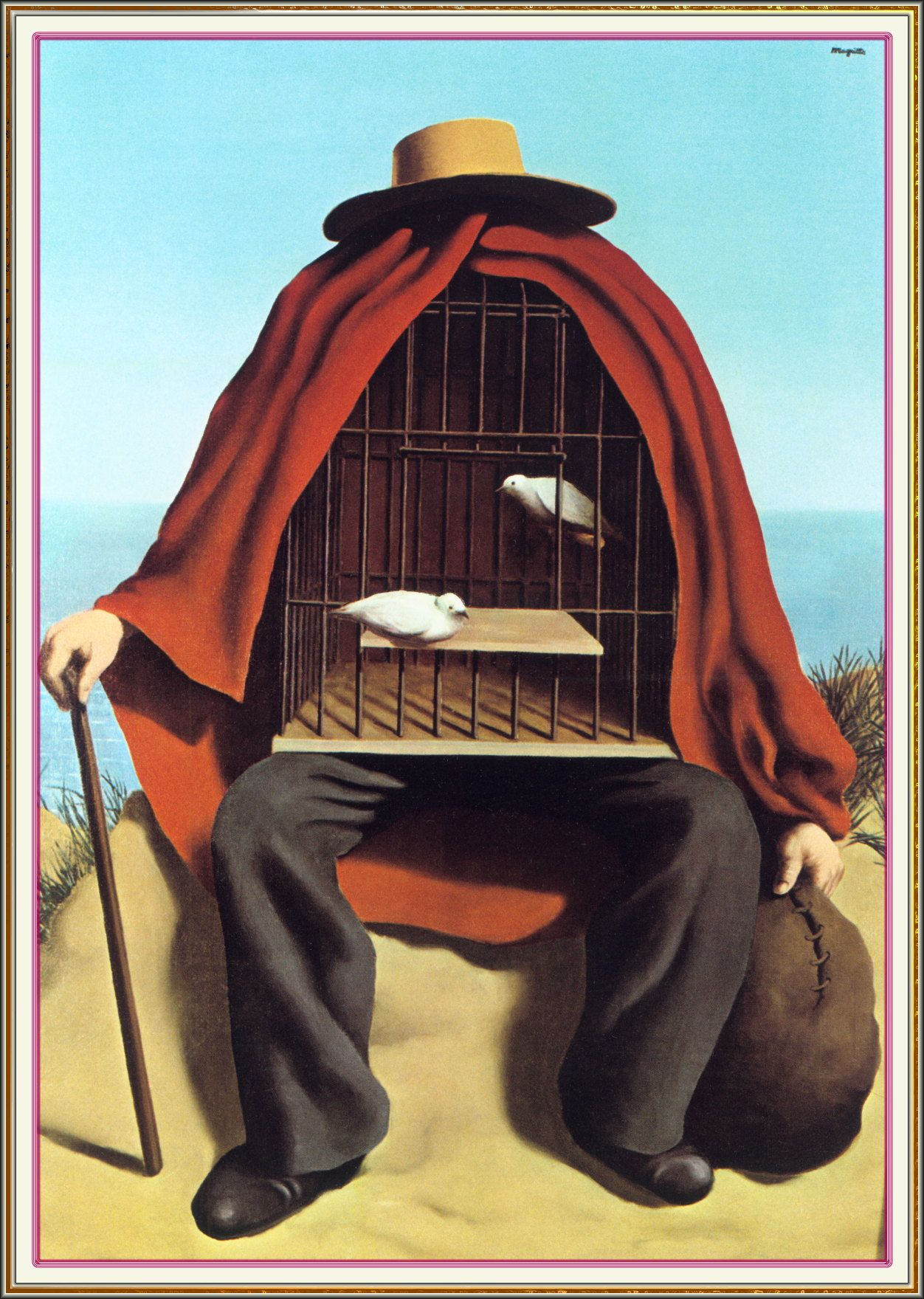 """The Therapeutist "" by  René Magritte  (1937)"