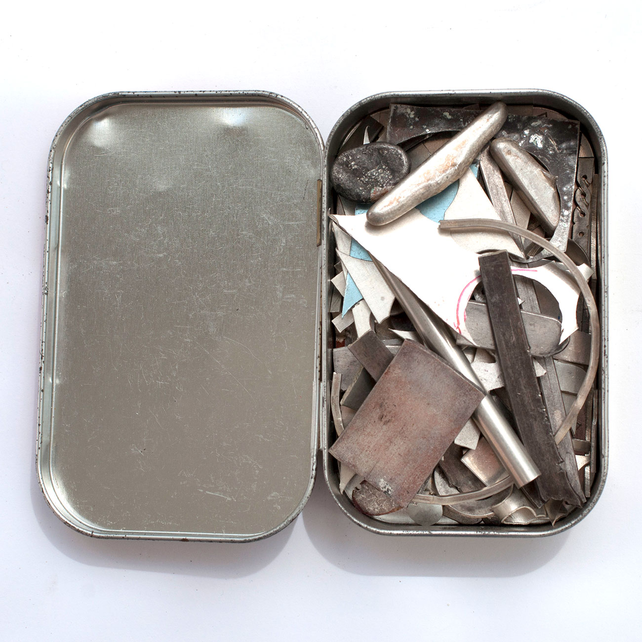 Scraps of silver to be used in small pieces or melted for making bigger pieces.