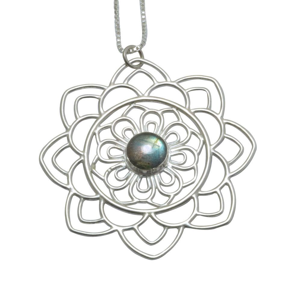 labradorite gem set mandala silver pendant.jpg