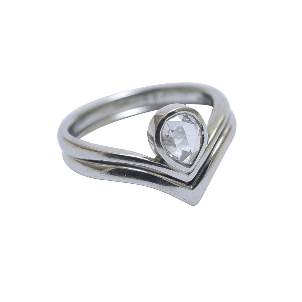 ring set fitted wedding engagement platinum rose cut diamond.jpg
