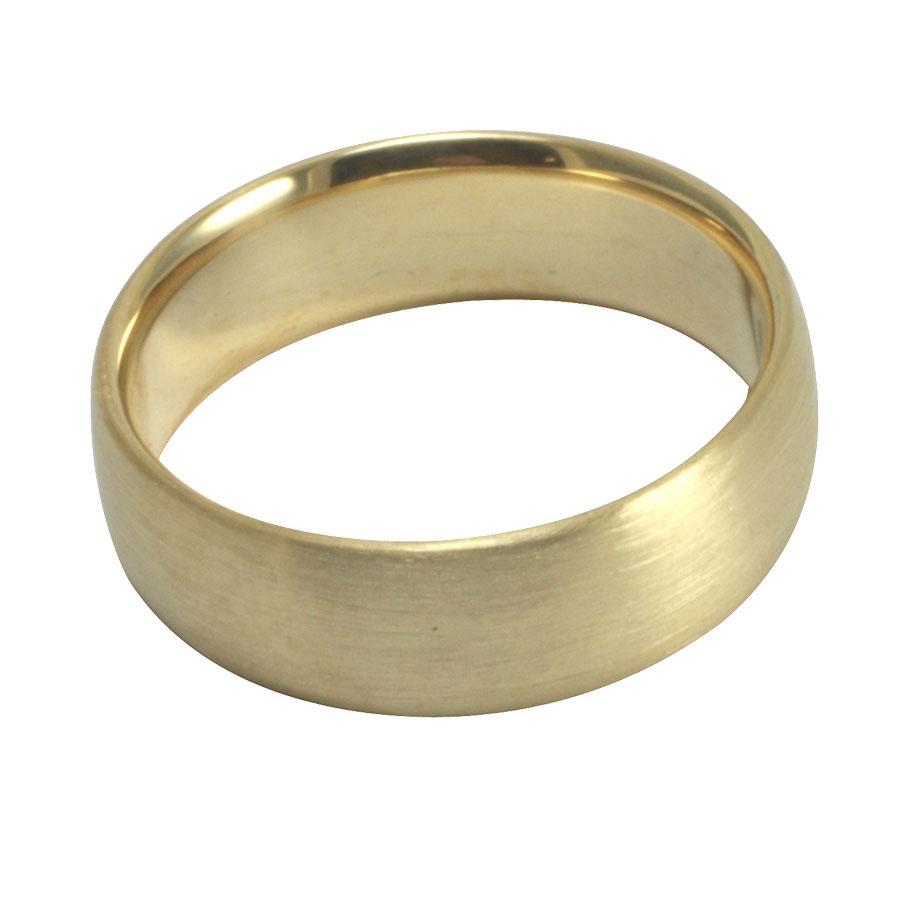 18ct yellow gold brushed comfort wedding ring.jpg