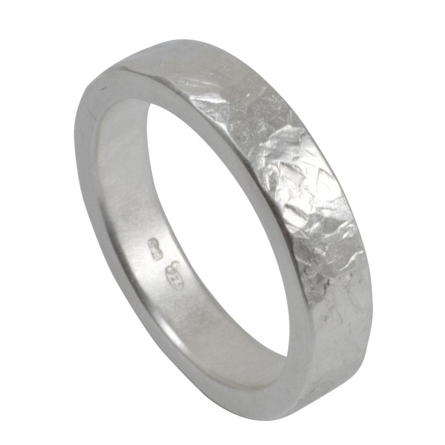 hammer texture chunky silver ring.jpg