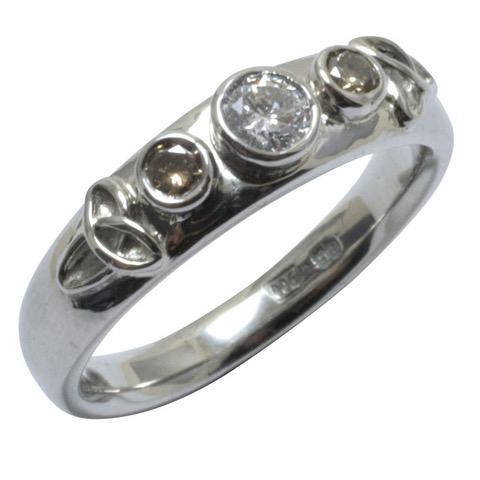 cognac diamond celtic palladium engagement ring.jpeg