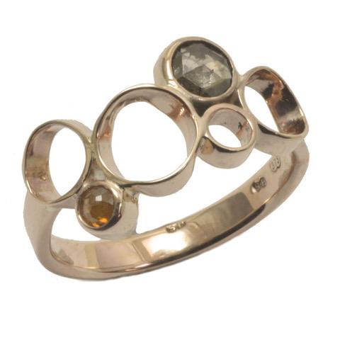 rose gold cognac diamond rose cut circle ring.jpeg