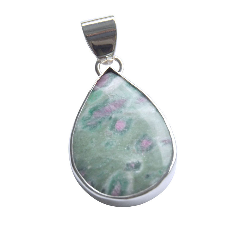 ruby in zoisite silver drop pendant.jpg