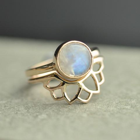 9ct recycled rose gold rising sun mandala custom handmade fitted wedding ring.JPEG