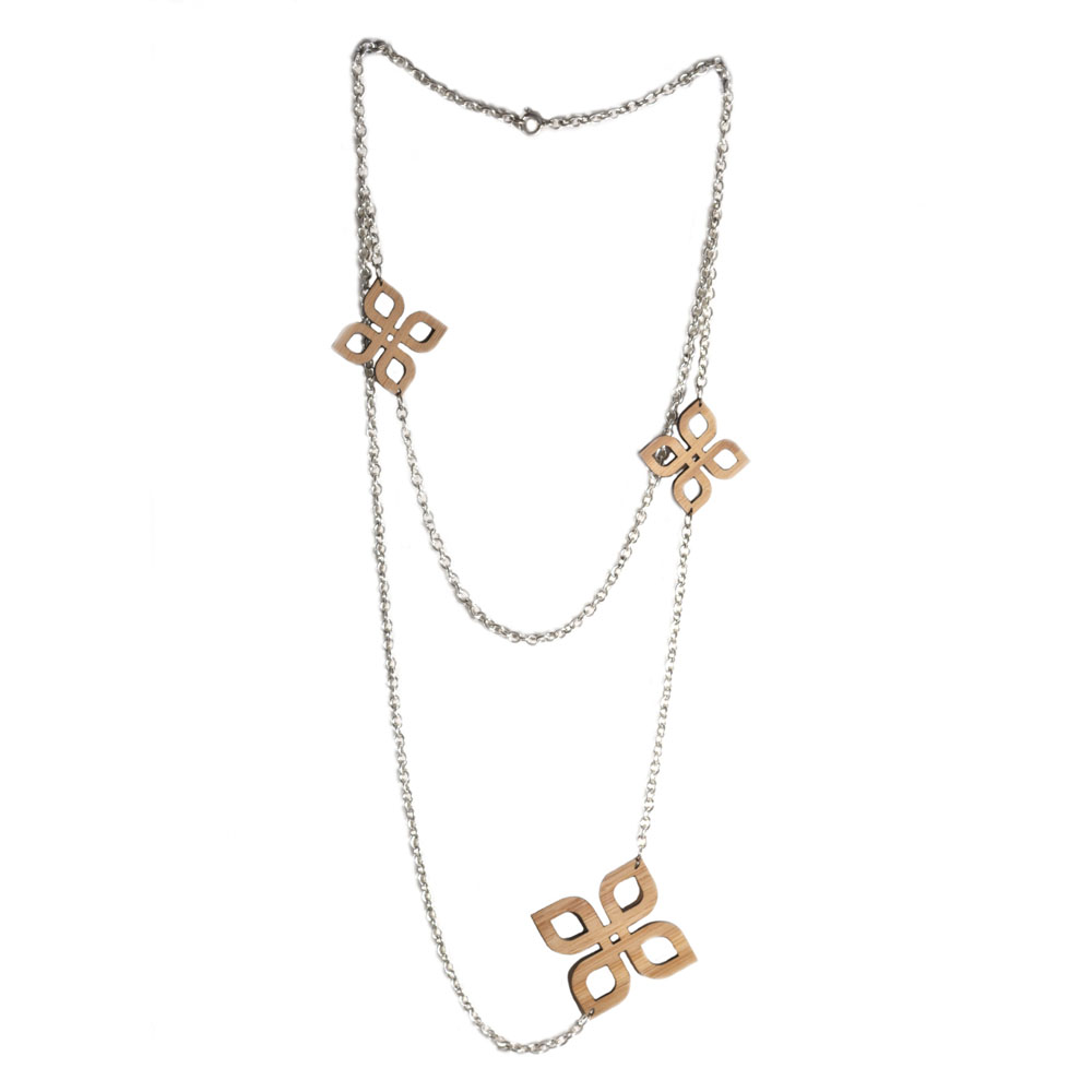 K22 double chain long bamboo knot necklace.jpg