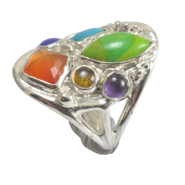 carnelian honey tourmaline purple amethyst lapis lazuli turqoise ring.jpg